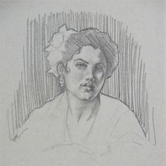 "Study of Mary Cassatt's ""Spanish Girl Leaning on a Window Sill"""