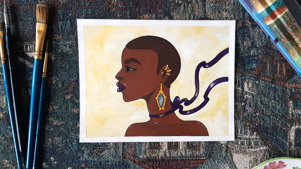 Ribbons- Acrylic painting