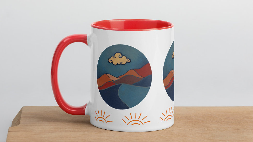 Lonely Cloud Mug with Color Inside