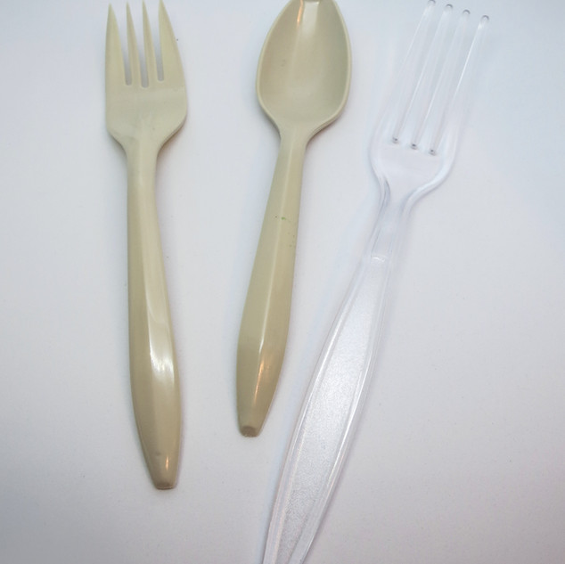 Biodegradable Plastic Utensils: Forks, Spoons, Knifes