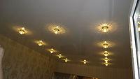 простой натяжной потолок