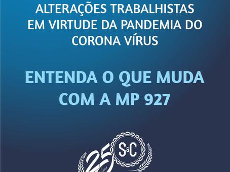 GOVERNO EDITA MP 927 – IMPACTOS NA RELAÇÃO DE TRABALHO