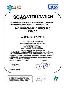Radini prodotti chimici - Certificazioni