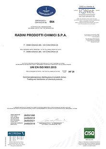 CERTIFICATO 564 UNI EN ISO 90012015 2018