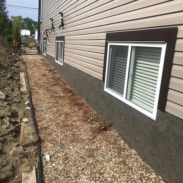 Sometimes your home requires more than the normal parge job, if it has retaining walls as features of the house or if they are a part of walkout basements. These walls are usually taller and long compared to a regular foundation wall, but we can make it look just as beautiful! Our parging experts are qualified and well equipped to enhance the look and appeal of your home all while ensuring the foundation is well protected.