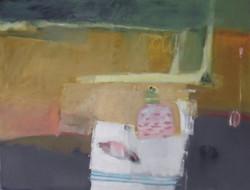 Picnic, oil on canvas, 90x120, framed