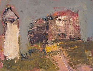 31 House and Tower, oil on board (1).jpg