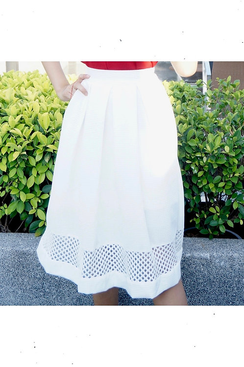 Carve White Skirt