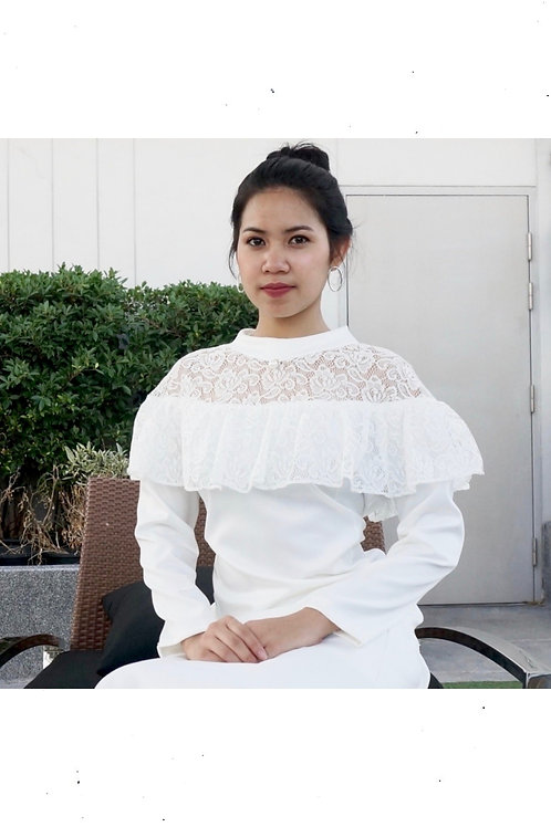 Genteel Lace Short Dress