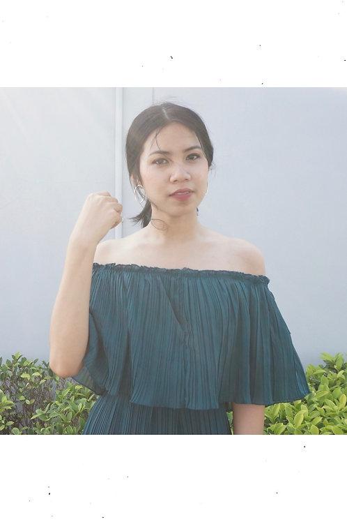 Pleat Long Dress