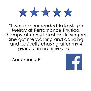 Performance Physical Therapy Middletown RI Facebook Review