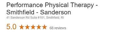 Performance Physical Therpy Smithfield Rhode Island Google Review