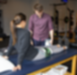 Working with a patient on Blood Flow restriction