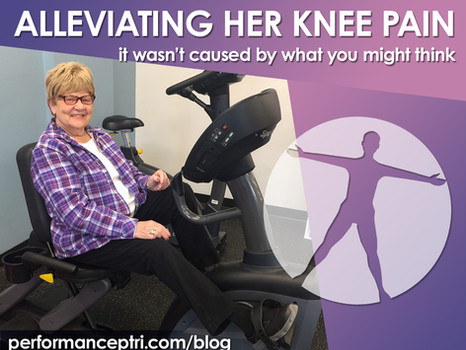 Alleviating Her Knee Pain; It Wasn't Caused By What You Might Think