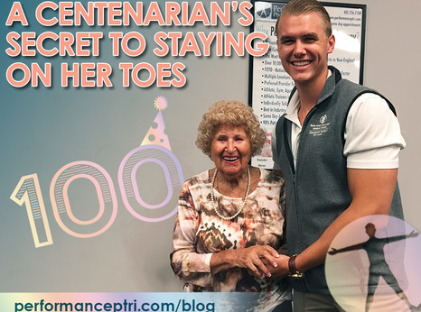 A Centenarian's Secret To Staying On Her Toes