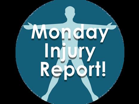 Monday Injury Report- January 14, 2019