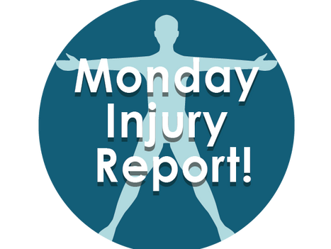 Monday Injury Report-December 3, 2018