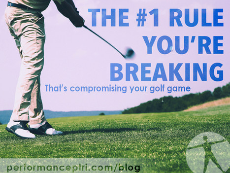 The #1 Rule You're Breaking That's Compromising Your Golf Game