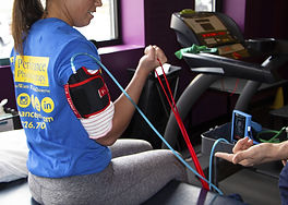 Exercie with a blood flow restriction cuff