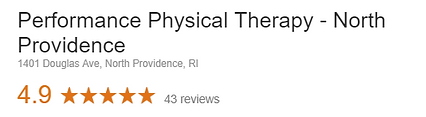 Performance Physical Therapy North Providene RI Google Review