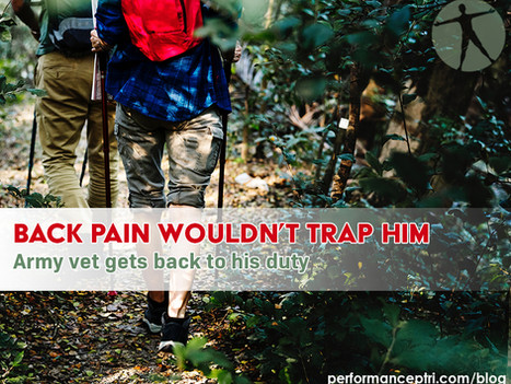 Back Pain Wouldn't Trap Him, Army Vet Gets Back to His Duty