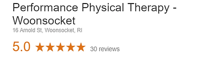 Performance Physical Therapy Woonsocket Rhode Island Google Review
