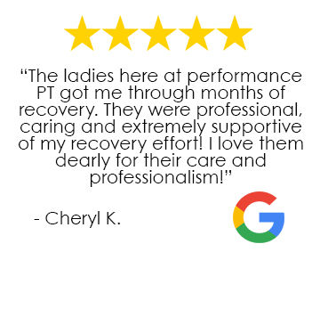 Performance Physical Therapy Richmond RI Google Review