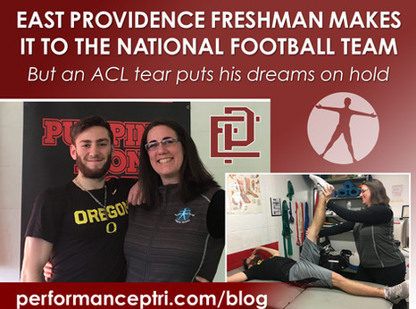 East Providence Freshman Makes it to The National Football Team