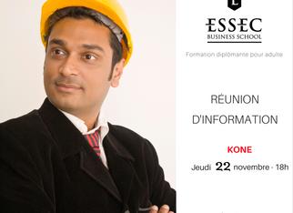 Réunion d'information de l'ESSEC à Koné