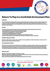 Return to Play in a Covid Safe Environme
