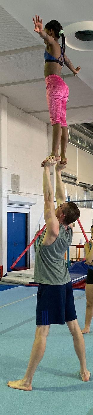 Acrobatics Woden Valley Gymnastics Club.