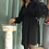 Thumbnail: Abito Alysi crepe fluido corto color nero con cintura