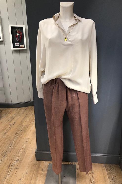 Pantalone Moirè lurex cappuccino