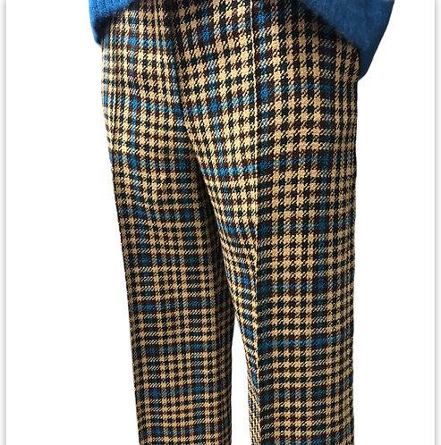 Pantalone Galles tramato ampio cobalto Alysi
