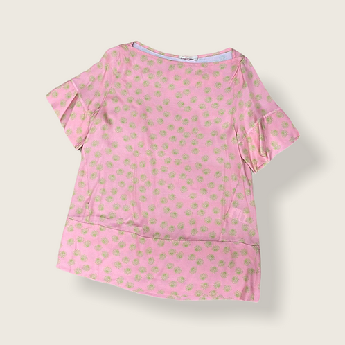 Blusa in viscosa is coming color rosa