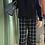 Thumbnail: Pantalone a quadri taglio largo color blu