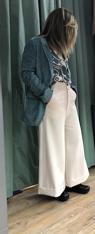 Pantalone Alysi cady ampio color burro