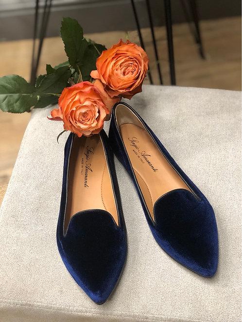 Ballerina velvet blu