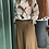 Thumbnail: Blusa Alysi twill ribbon silk color vaniglia