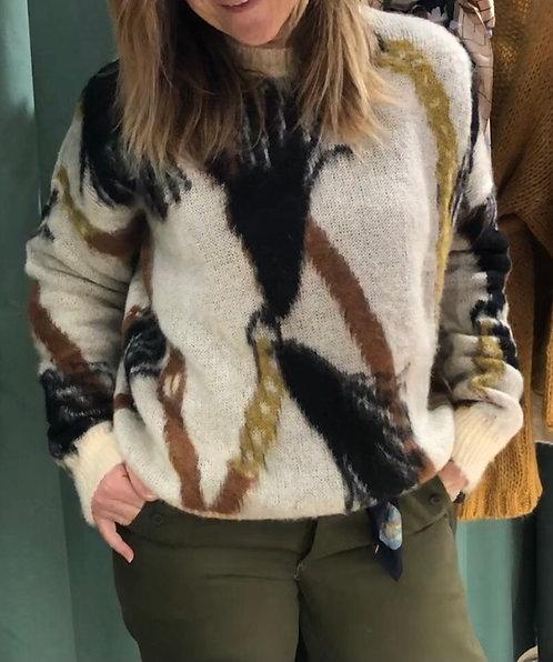 Maglia Jacquard macro foulard