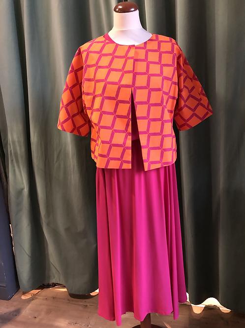 Bolerino kimono in cotone color fuxia