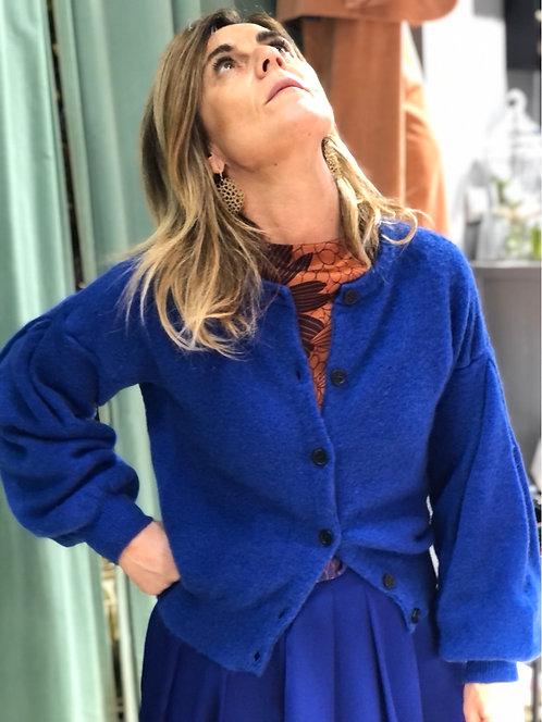 Cardigan ottod'Ame color blue royal