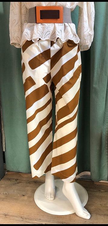 Pantalone flowers & stripes