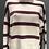 Thumbnail: Maglione dolcevita a righe 100% lana color prugna