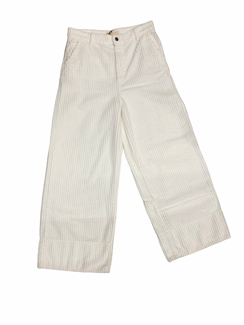 Pantalone in velluto a coste larghe bianco