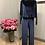 Thumbnail: Pantalone morbido in velluto blu au petit bonheur