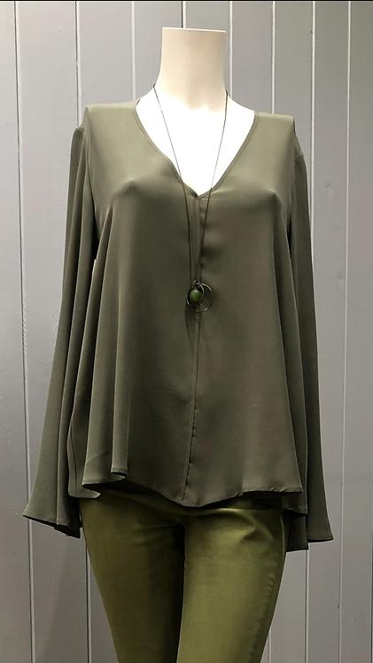 Blusa M/lunga in seta