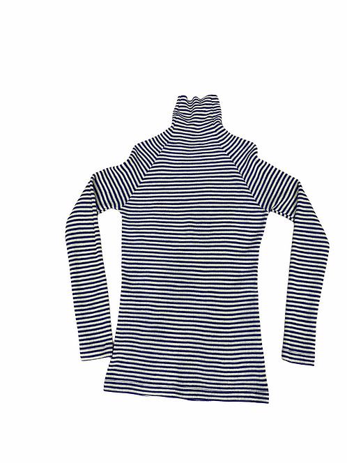 Lupetto stripes Alysi knit color viola