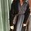 Thumbnail: Cappotto Alysi mohair stripe lungo color caffè