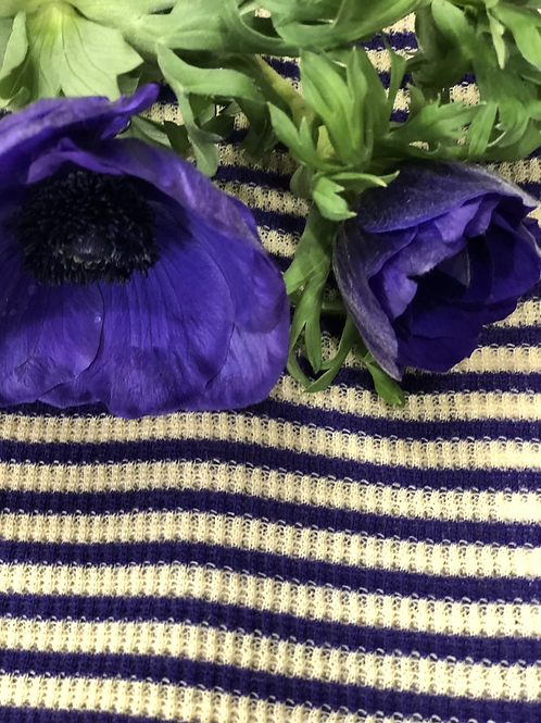 Maglia stripes knit color viola